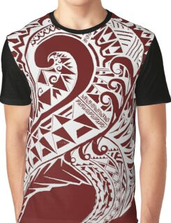 Tribal Art Vector - Version Red Graphic T-Shirt