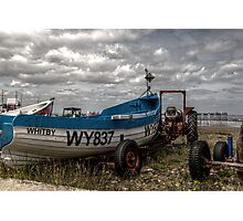 Boat Tractor Pier Photographic Print