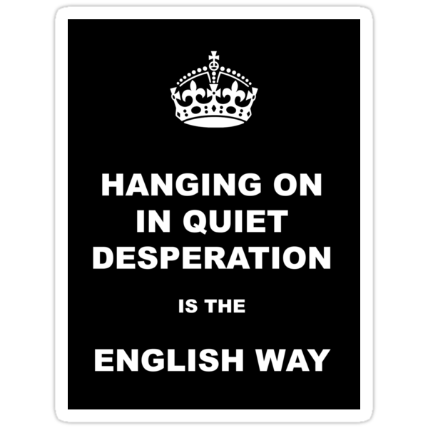 Hanging on in quiet desperation 01 by GentryRacing