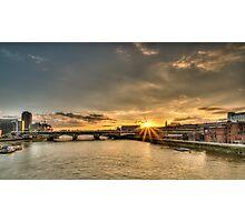 Sunset over blackfriars bridge London Photographic Print