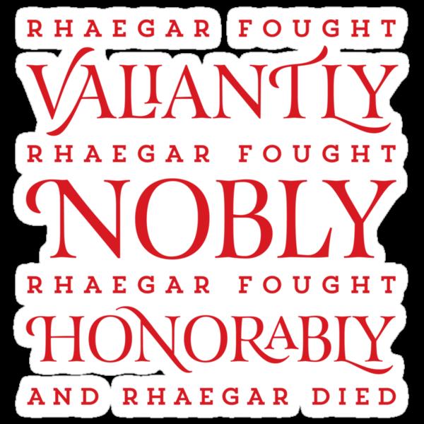 And Rhaegar Died by JenSnow