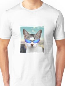 Groovy Cat with Cool Sunglasses Unisex T-Shirt
