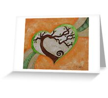 The love of a tree Greeting Card