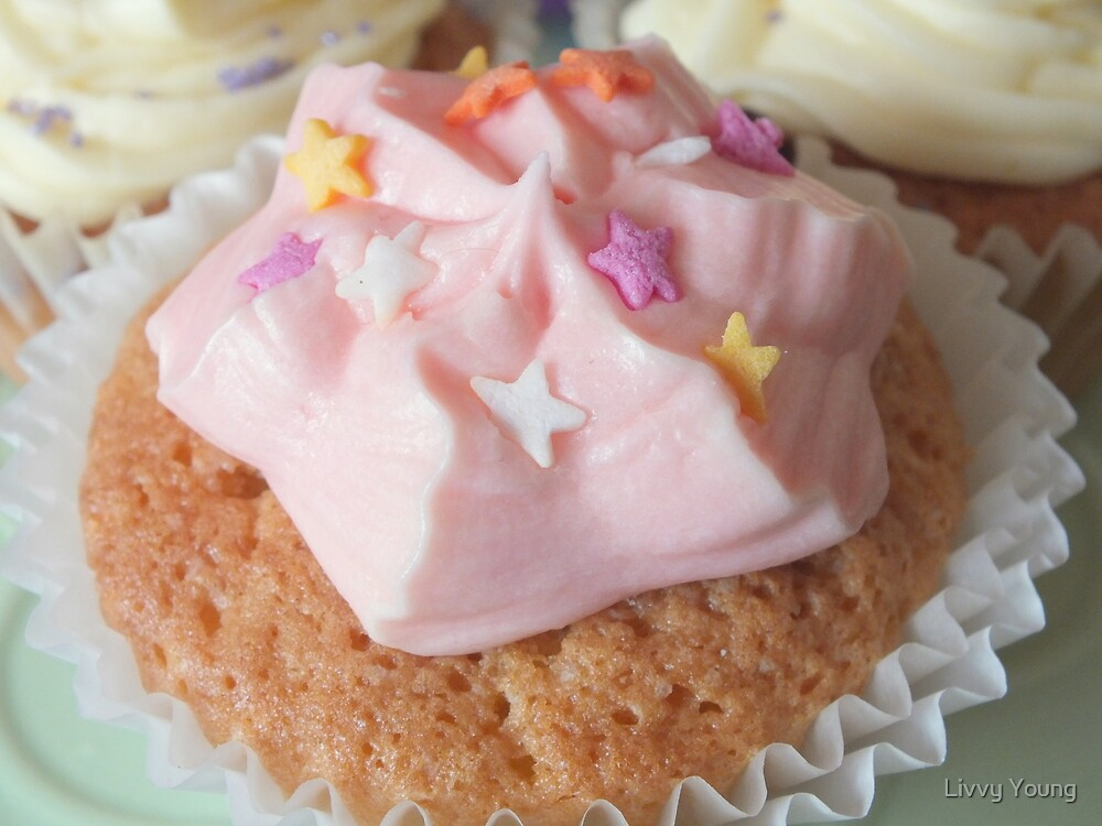 Pink cupcake. by Livvy Young