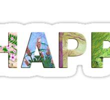 BE HAPPY Quote #02 Sticker