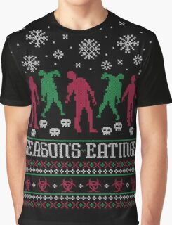 Season Eatings Ugly Christmas Graphic T-Shirt