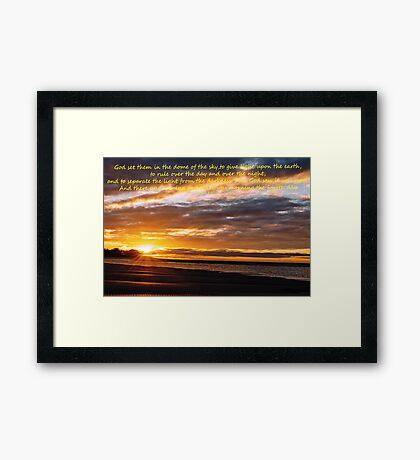 Genesis 1-17 (day 3) Framed Print