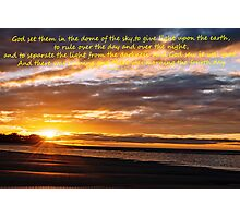 Genesis 1-17 (day 3) Photographic Print