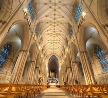 Interior of York Minster - Largest European Cathedral by James Howard