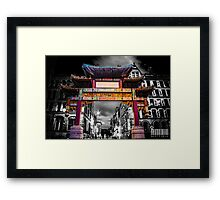 Chinatown Manchester Framed Print