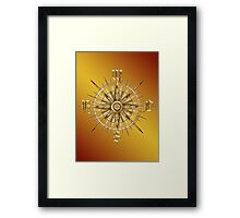 PC Gamer's Compass - Adventurer Framed Print