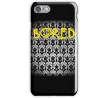 Sherlock - Bored (with wallpaper) iPhone Case/Skin