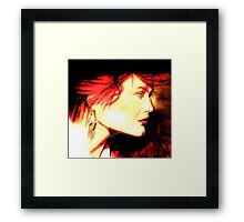 The Red Head: Graphic  Framed Print