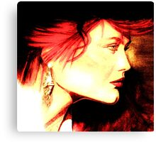 The Red Head: Graphic  Canvas Print
