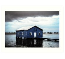Crawley Boatshed Art Print