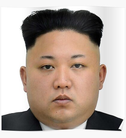 Kim Jong-un Face on something... :D Poster