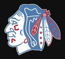 Chicago Flag Hawks by DCVisualArts
