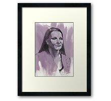 Portrait of Gabrielle Framed Print