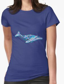 Whale Animals Gift Womens Fitted T-Shirt