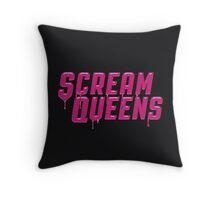 Scream Queens' logo. Throw Pillow