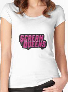 Scream Queens' logo. Women's Fitted Scoop T-Shirt
