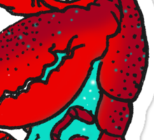 Party Crab Sticker