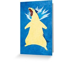 Blue Flame Typhlosion Greeting Card