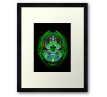 ©NS Mr. Green  Portrait Paintography Framed Print