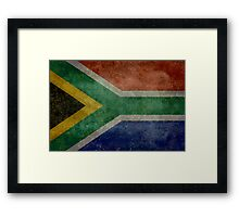 National flag of the Republic of South Africa Framed Print