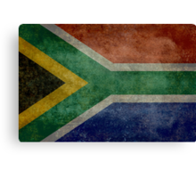 National flag of the Republic of South Africa Canvas Print