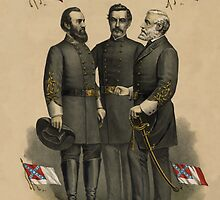 Generals Jackson, Beauregard, and Lee  by warishellstore