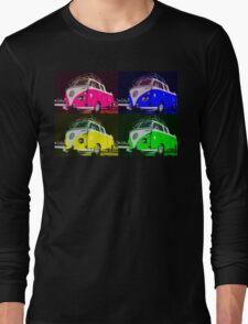 Volkswagen Camper Multi colors illustration Long Sleeve T-Shirt