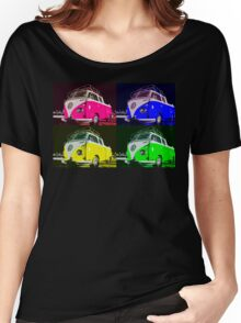 Volkswagen Camper Multi colors illustration Women's Relaxed Fit T-Shirt