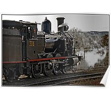 Steam Locomotive in Canberra Poster
