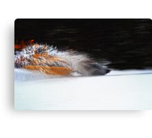 Plow Truck Canvas Print