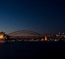 Sydney Opera House and Harbour Bridge by Anja Fuechtbauer
