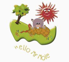 Hello Mr Mole T-shirt Kids Tee