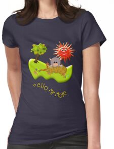 Hello Mr Mole T-shirt Womens Fitted T-Shirt