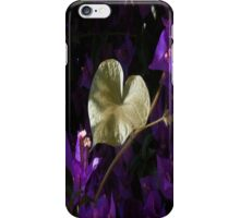 A Heart of Gold Leaf of Morning Glory iPhone Case/Skin