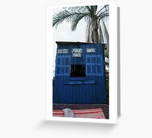 Tardis - Home Made Cubby House  Greeting Card