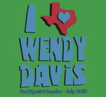 I Heart Wendy Davis - 2nd Session Kids Clothes