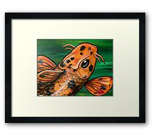 Eye Of The Crocodile Koi Framed Print