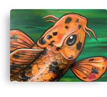 Eye Of The Crocodile Koi Metal Print