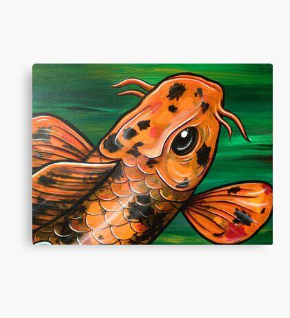Eye Of The Crocodile Koi Canvas Print