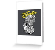 Classic British Motorcycle Engine - Velocette KTT350 Greeting Card