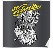 Classic British Motorcycle Engine - Velocette KTT350 Poster