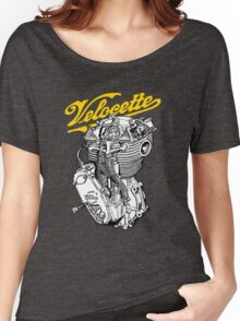 Classic British Motorcycle Engine - Velocette KTT350 Women's Relaxed Fit T-Shirt