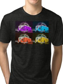 Volkswagen Camper Multi colors illustration 2 Tri-blend T-Shirt