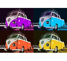 Volkswagen Camper Multi colors illustration 2 Photographic Print
