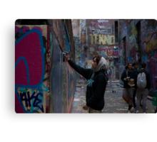 Graffiti Artist - Rutledge Lane Melbourne Canvas Print